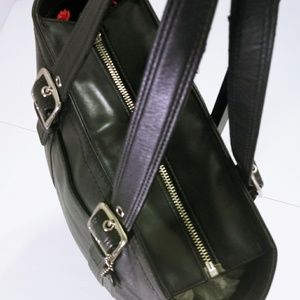 Coach Bags - 💕Coach Hampton Black Leather Tote Bag